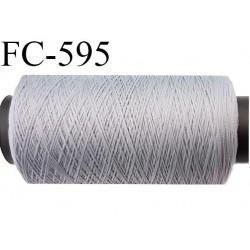 bobine de 500 mètres fil mousse polyamide n° 120 couleur gris longueur de 500 mètres bobiné en France
