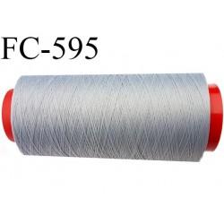 Cône de 1000 mètres fil mousse polyamide n° 120 couleur gris longueur de 1000 mètres bobiné en France