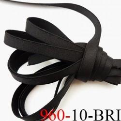 Elastique bretelle plat largeur 10 mm couleur noir brillant superbe  très belle qualité haut de gamme prix au mètre