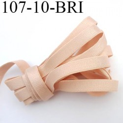 Elastique bretelle plat largeur 10 mm couleur beige rosé brillant superbe  très belle qualité haut de gamme prix au mètre