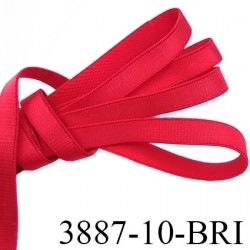 Elastique bretelle plat largeur 10 mm couleur rouge brillant superbe  très belle qualité haut de gamme prix au mètre