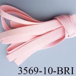 Elastique bretelle plat largeur 10 mm couleur rose eden brillant superbe  très belle qualité haut de gamme prix au mètre