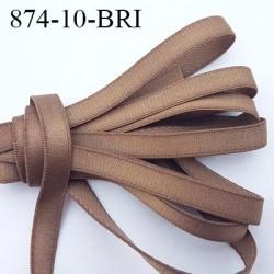 Elastique bretelle plat largeur 10 mm couleur taupe ou bronze brillant superbe  très belle qualité haut de gamme prix au mètre
