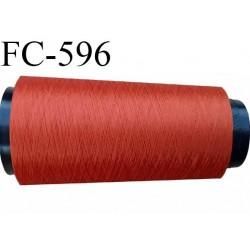 Cône de 1000 mètres fil mousse polyamide n° 120 couleur rouille longueur de 1000 mètres bobiné en France