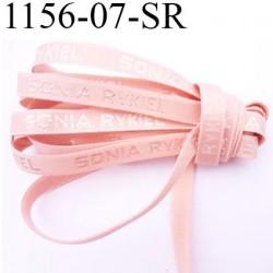 Elastique  bretelle 7 mm de marque sonia rykiel inscription en surpiquage couleur chair rosé  largeur 7 mm prix au mètre