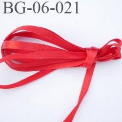 galon ruban satin couleur rouge brillant lumineux double face très solide souple largeur 6 mm prix au mètre