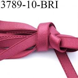 Elastique bretelle plat largeur 10 mm couleur lie de vin  brillant superbe  très belle qualité haut de gamme prix au mètre