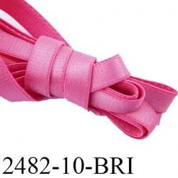 Elastique bretelle plat largeur 10 mm couleur confetti  brillant superbe  très belle qualité haut de gamme prix au mètre