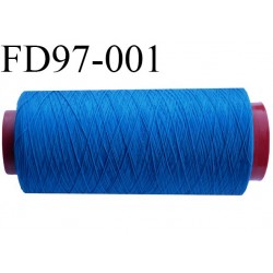 Destockage cone 2000 mètres de fil mousse polyamide fil n°120 couleur vert bleu bobiné en France