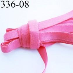 élastique plat largeur 8 mm couleur rose  vendu au mètre