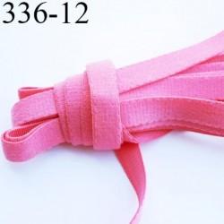 élastique plat largeur 12 mm couleur rouge rose fraise vendu au mètre