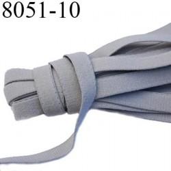 Elastique bretelle plat largeur 10 mm couleur gris argent superbe  très belle qualité haut de gamme prix au mètre