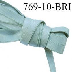 Elastique bretelle plat largeur 10 mm couleur vert olive  brillant superbe  très belle qualité haut de gamme prix au mètre
