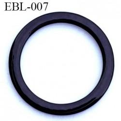 anneau métallique plastifié couleur noir brillant laqué pour soutien gorge diamètre 16 mm vendu à l'unité haut de gamme
