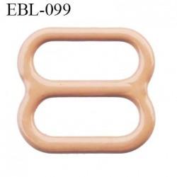 boucle de réglage 11 mm réglette métal plastifié chair brillant  largeur 11 mm intérieur prix à l'unité haut de gamme