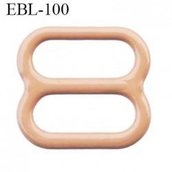 boucle de réglage 10 mm réglette métal plastifié chair brillant  largeur 10 mm intérieur prix à l'unité haut de gamme