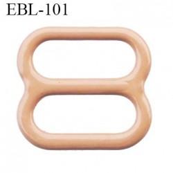 boucle de réglage 9 mm réglette métal plastifié chair brillant  largeur 9 mm intérieur prix à l'unité haut de gamme