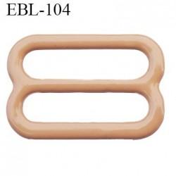 boucle de réglage 13 mm réglette métal plastifié chair brillant  largeur 13 mm intérieur prix à l'unité haut de gamme