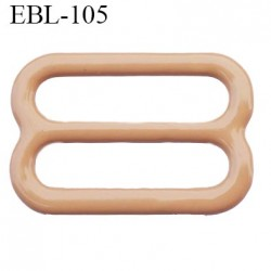 boucle de réglage 15 mm réglette métal plastifié chair brillant  largeur 15 mm intérieur prix à l'unité haut de gamme