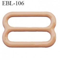 boucle de réglage 16 mm réglette métal plastifié chair brillant  largeur 16 mm intérieur prix à l'unité haut de gamme