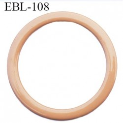 anneau métallique 6 mm plastifié chair  brillant laqué pour soutien gorge diamètre intérieur 6 mm prix à l'unité haut de gamme