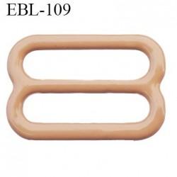 boucle de réglage 14 mm réglette métal plastifié chair brillant  largeur 14 mm intérieur prix à l'unité haut de gamme