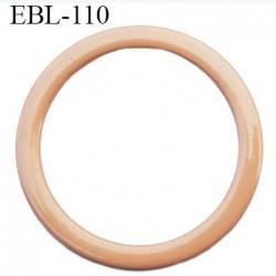 anneau métallique 8 mm plastifié chair  brillant laqué pour soutien gorge diamètre intérieur 8 mm prix à l'unité haut de gamme