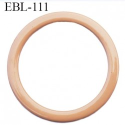 anneau métallique 9 mm plastifié chair  brillant laqué pour soutien gorge diamètre intérieur 9 mm prix à l'unité haut de gamme