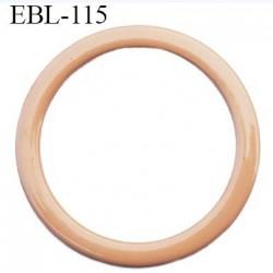 anneau métallique 19 mm plastifié chair  brillant laqué pour soutien gorge diamètre intérieur 19 mm prix à l'unité haut de gamme