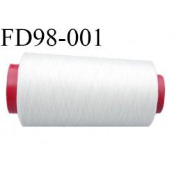Destockage Cone de fil mousse  polyester  fil n° 90 très très solide couleur naturel  longueur 2000 mètres bobiné en France