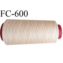 Cone 1000 mètres de fil mousse polyamide fil n°120 couleur crème sable  bobiné en France