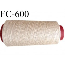 Cone 2000 mètres de fil mousse polyamide fil n°120 couleur crème sable  bobiné en France