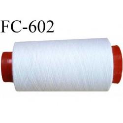 CONE de fil polyester fil n° 30 couleur blanc  longueur de 1000 mètres bobiné en France