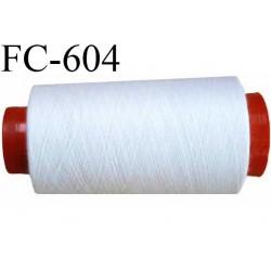 Cone de 2000 m de fil élastique couleur blanc spécial pour aiguille surjeteuse canette machine et aiguille recouvreuse