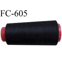 Cone de 2000 m de fil élastique couleur noir spécial pour aiguille surjeteuse canette machine fil n° 120