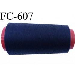 Cone de 2000 m de fil élastique couleur bleu marine spécial pour aiguille surjeteuse canette machine fil n° 120