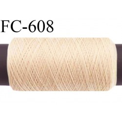Bobine de 500 m de fil élastique couleur crème sable spécial pour aiguille surjeteuse et canette machine fil n° 120