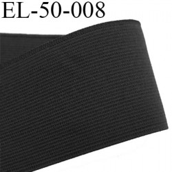 Elastique 50 mm plat très très  belle qualité couleur noir lumineux très belle élasticité prix au mètre