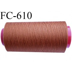 Cone 5000 mètres de fil mousse polyamide fil n°120 couleur terracotta  bobiné en France