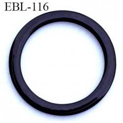 anneau métallique 19 mm plastifié noir  brillant laqué pour soutien gorge diamètre intérieur 19 mm prix à l'unité haut de gamme