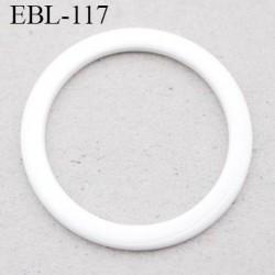 anneau métallique 19 mm plastifié blanc  brillant laqué pour soutien gorge diamètre intérieur 19 mm prix à l'unité haut de gamme