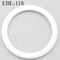anneau métallique 16 mm plastifié blanc  brillant laqué pour soutien gorge diamètre intérieur 16 mm prix à l'unité haut de gamme