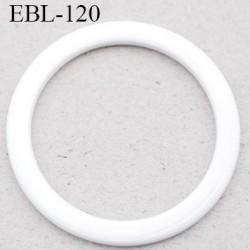 anneau métallique 11 mm plastifié blanc  brillant laqué pour soutien gorge diamètre intérieur 11 mm prix à l'unité haut de gamme