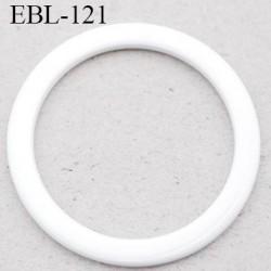 anneau métallique 9 mm plastifié blanc  brillant laqué pour soutien gorge diamètre intérieur 9 mm prix à l'unité haut de gamme