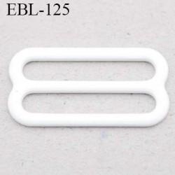 boucle de réglage 16 mm  réglette métal plastifié blanc brillant pour soutien gorge largeur intérieur 16 mm  haut de gamme