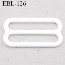 boucle de réglage 15 mm réglette métal plastifié blanc brillant  largeur 15 mm intérieur prix à l'unité haut de gamme