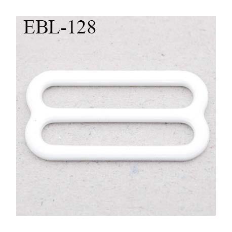 boucle de réglage 13 mm réglette métal plastifié blanc brillant  largeur 13 mm intérieur prix à l'unité haut de gamme