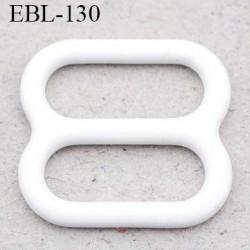 boucle de réglage 10 mm réglette métal plastifié blanc brillant  largeur 10 mm intérieur prix à l'unité haut de gamme