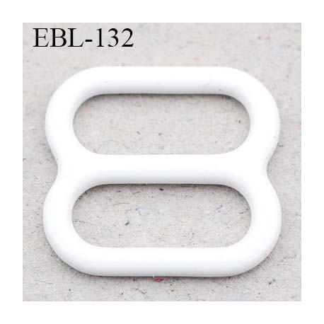 boucle de réglage 6 mm  réglette métal plastifié blanc brillant pour soutien gorge largeur intérieur 6 mm  haut de gamme