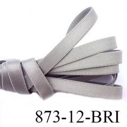 élastique lingerie bretelle plat largeur 12 mm épais superbe couleur gris brillant prix au mètre
